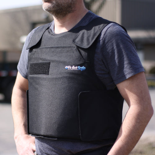 The Bulletsafe Bulletproof Vest - Front Offset View