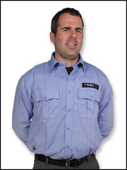 Bulletsafe Vest Under Blue Uniform - Front