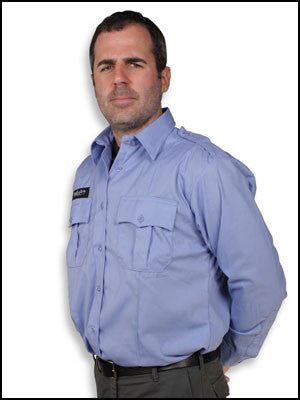 bulletproof vest concealed under a uniform shirt