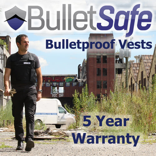 The BulletSafe Bulletproof Vest 5 Year Warranty
