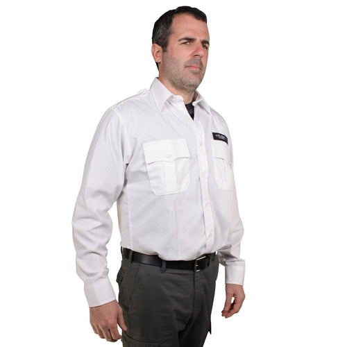 The BulletSafe Vest Concealed By A White Uniform Shirt