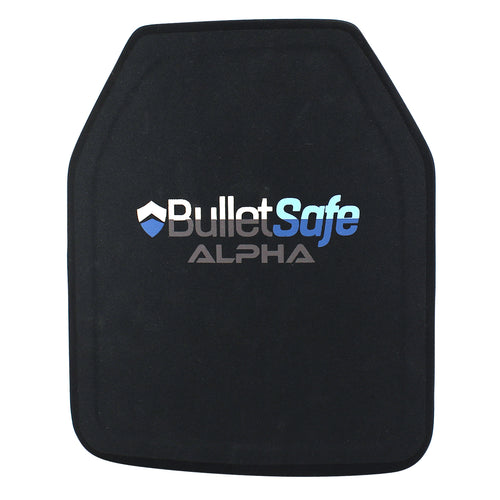 BulletSafe Ultralight Alpha Ballistic Plate - Only 3.3 lbs. - Level III (Level IV ICW Level IIIA Vest)