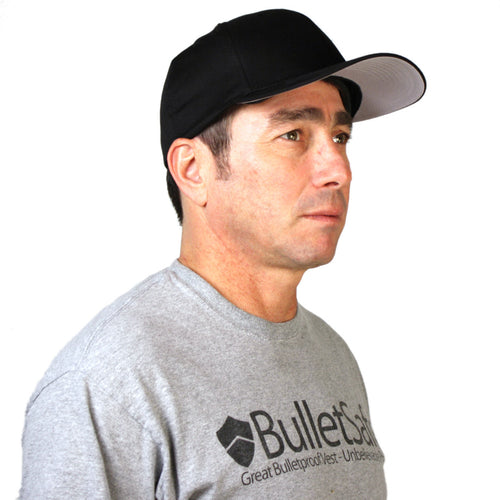 Bulletproof Baseball Cap Three Quarter View - BulletSafe