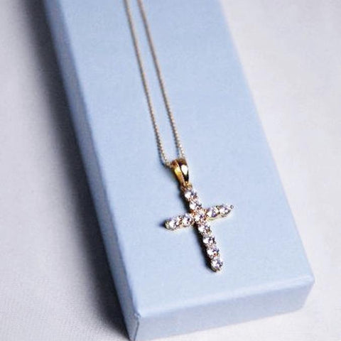 Cross Necklace Gold Plated Made by Mariah Bloom