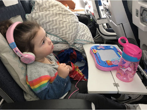 Flying British Airways BA Cross Atlantic from London Heathrow to New Orleans Louisiana Non-Stop with a Two Year Old. Entertainment by Peppa Pig.