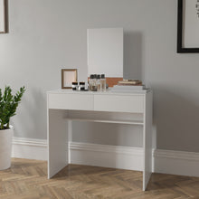 Vanity Set / Dressing Table with Mirror, White, 2 Drawers