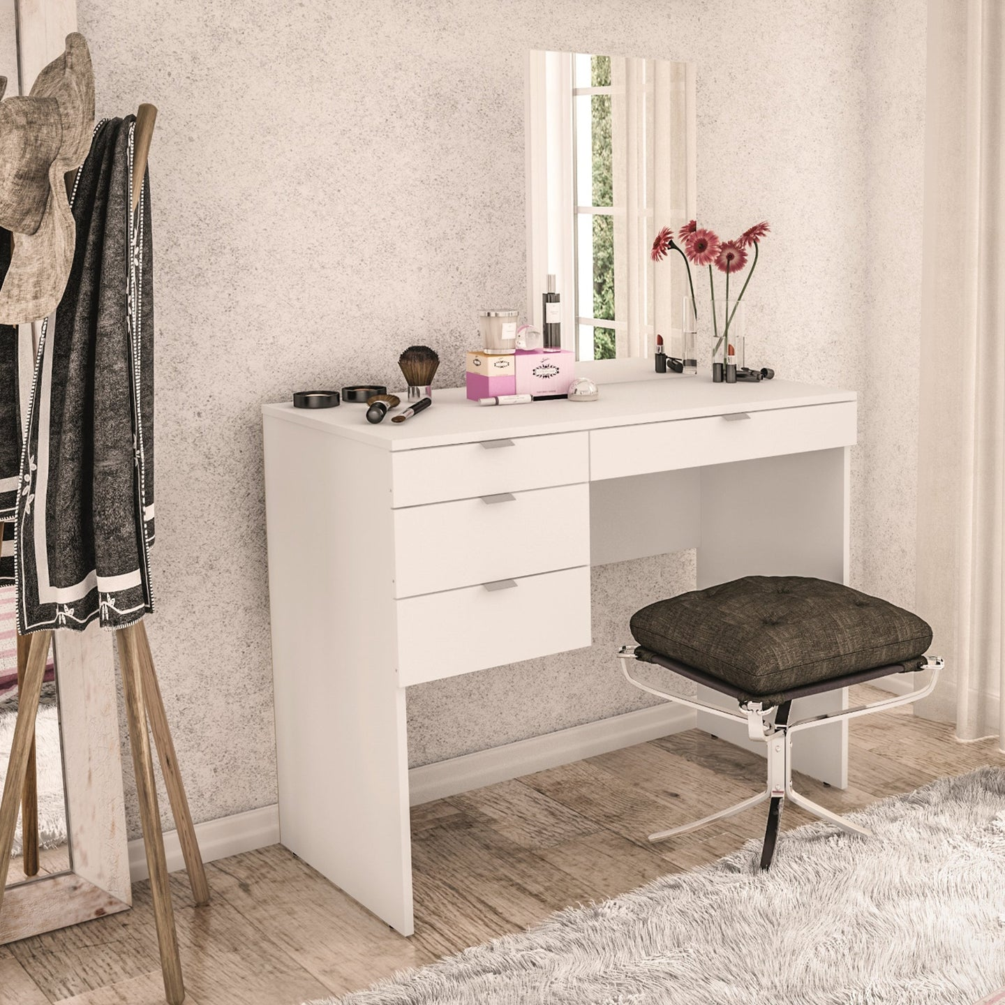 Boahaus Vanity With 4 Drawers