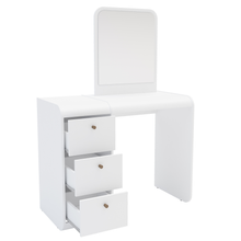 Boahaus Aphrodite Dressing Table, White, Standing Mirror, 03 Drawers