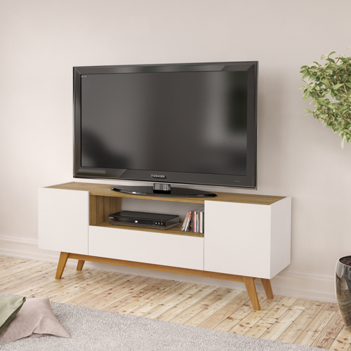 Boahaus Philadelphia TV Stand, White Walnut, up to 60