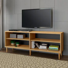 Boahaus Gainesville TV Stand, TV's up to 46 inches, 4 shelves, 5 wood feet
