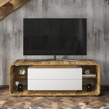 Boahaus Wichita TV Stand, TVs up to 70 inches, 02 Drawers, 04 Open Shelves