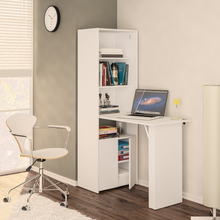 Boahaus Multipurpose Cabinet with Desk, White