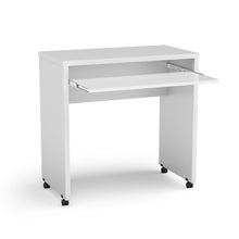 Boahaus Kyoto Mobile Computer Desk, White, Keyboard tray