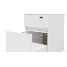 Boahaus Osaka File Cabinet, 2 drawers, 4 plastic casters