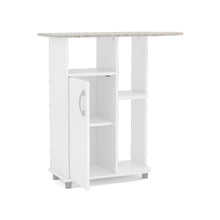 Ironing Cart, White, 1 closed compartment