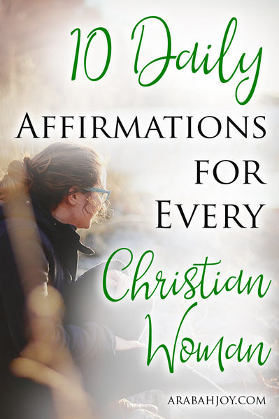 10 Daily Scripture Affirmations for Every Christian Woman- Card Set