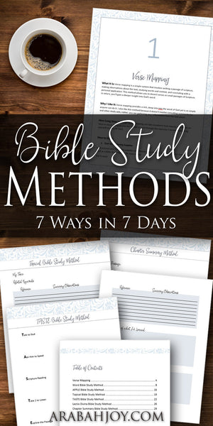 Bible Study Methods: 7 Ways in 7 Days Course (7 VIDEO Tutorials + 34 page PDF)