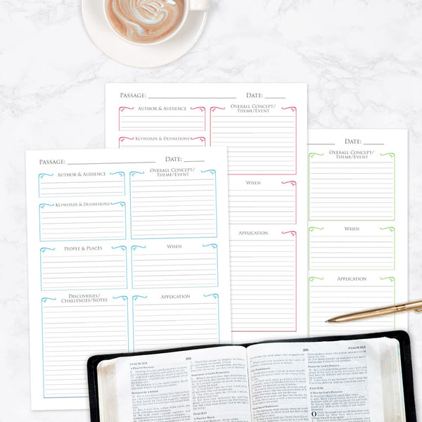 """10 Questions"" Bible Study Printable Template"