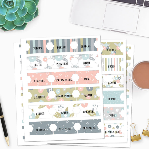Books of the Bible printable Tabs