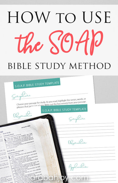 SOAP Bible Study Printable Sheets