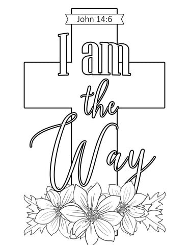 I Am The Way Coloring Sheet