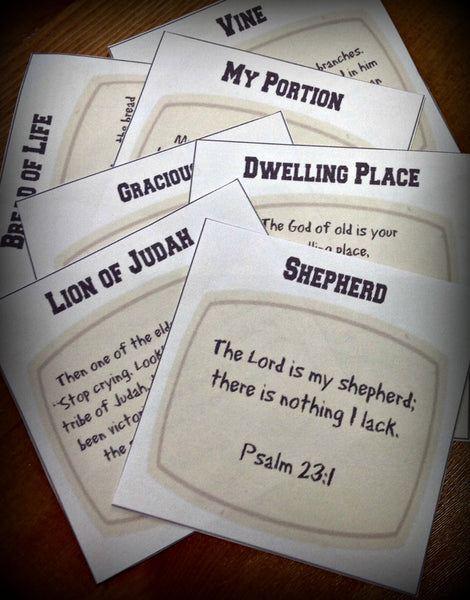 Names and Attributes of God Printable Cards