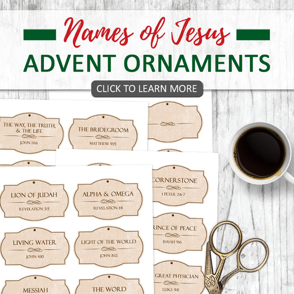 Names of Jesus Printable Christmas Ornaments