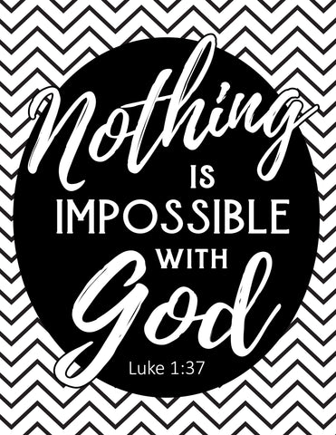 Nothing is Impossible with God Coloring Sheet