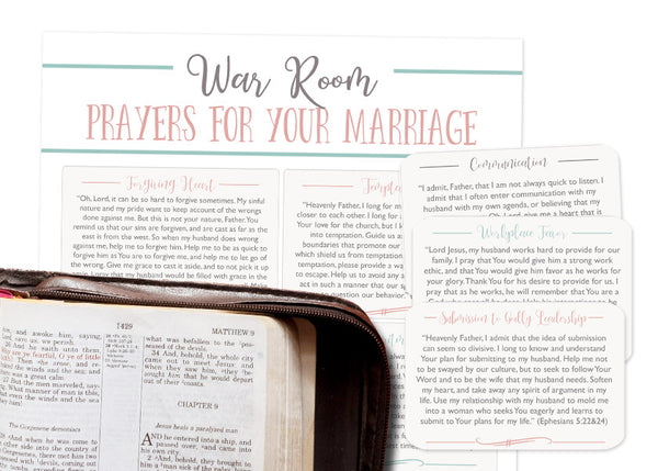 Prayer Card Pack: 10 Powerful Scriptures to Pray Over Your Marriage