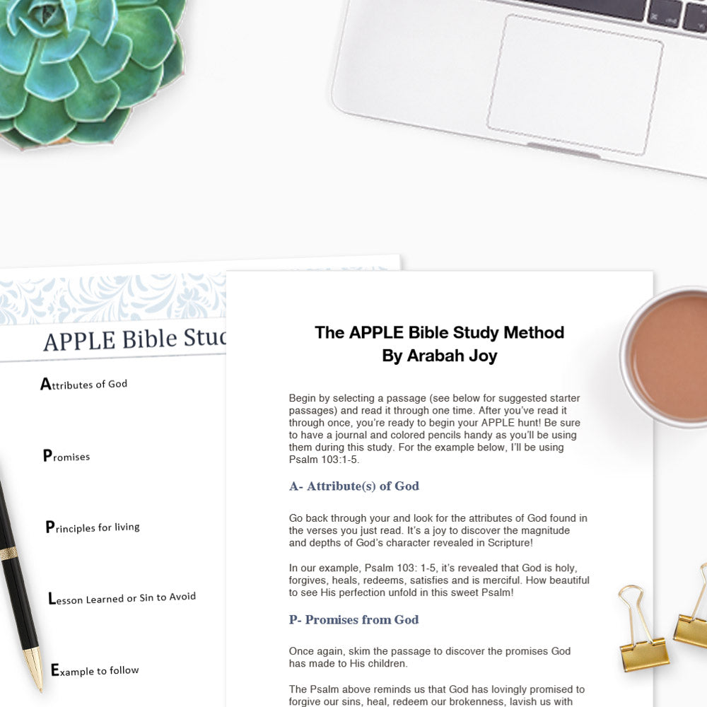 The APPLE Bible Study Method