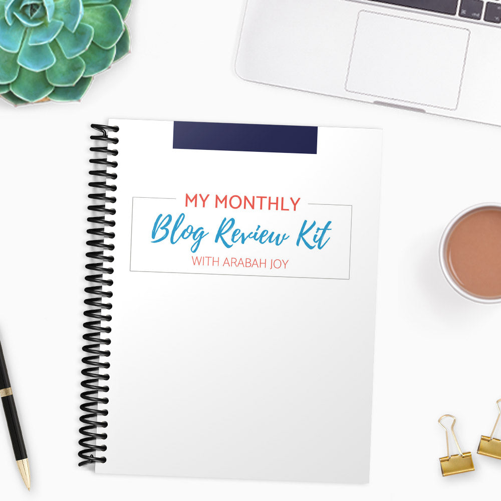 Monthly Blog Review Template {7 pages}