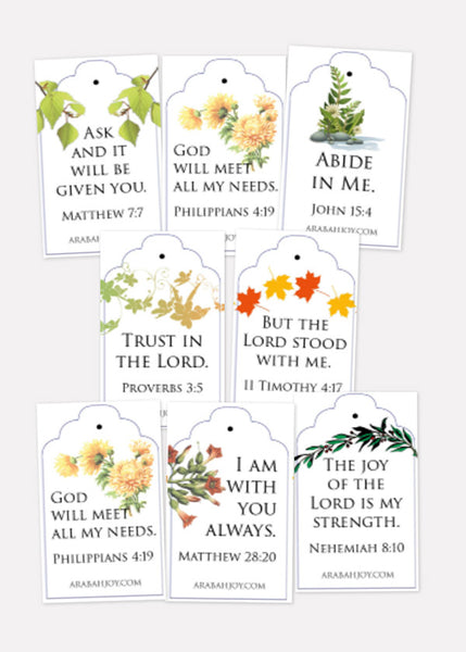 Scripture Tea Tags Printable