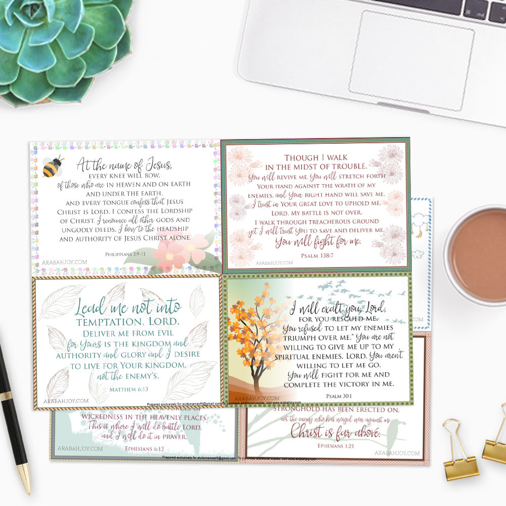 10 War Room Scripture Cards