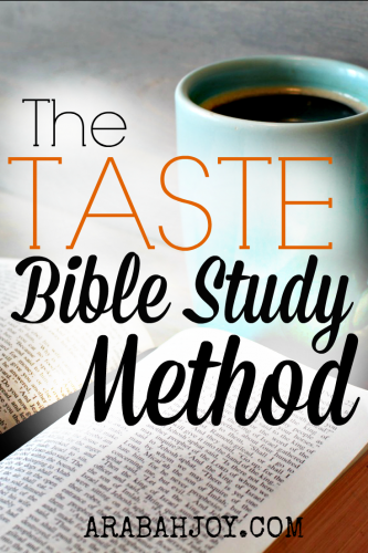 The TASTE Bible Study Method