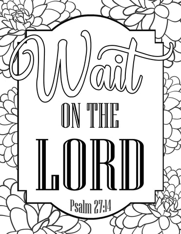 Wait on the Lord Coloring Sheet