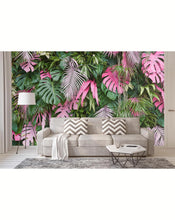 Self Adhesive Colorful Tropical Palm Leaves Wall Mural CCM001