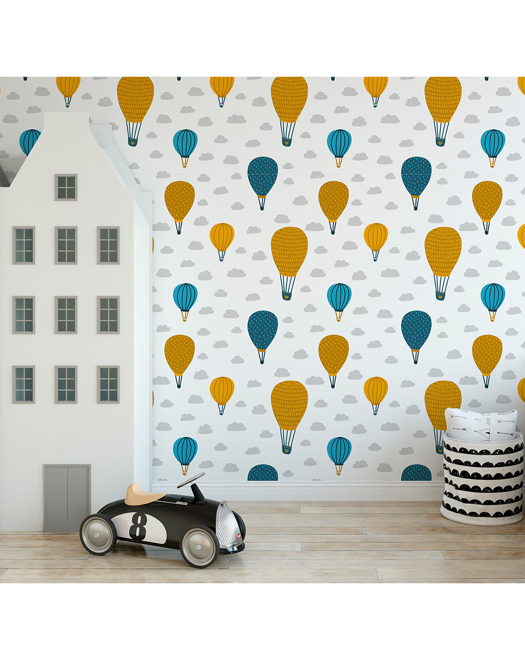 d55deb992c6f0 Self Adhesive Air Balloons in Sky Removable Wallpaper for Kids ...