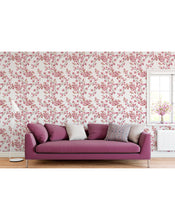 Watercolor Cherry Blossoms Self Adhesive Removable Wallpaper, Peel and Stick Floral Design Wall Paper for Walls CC133