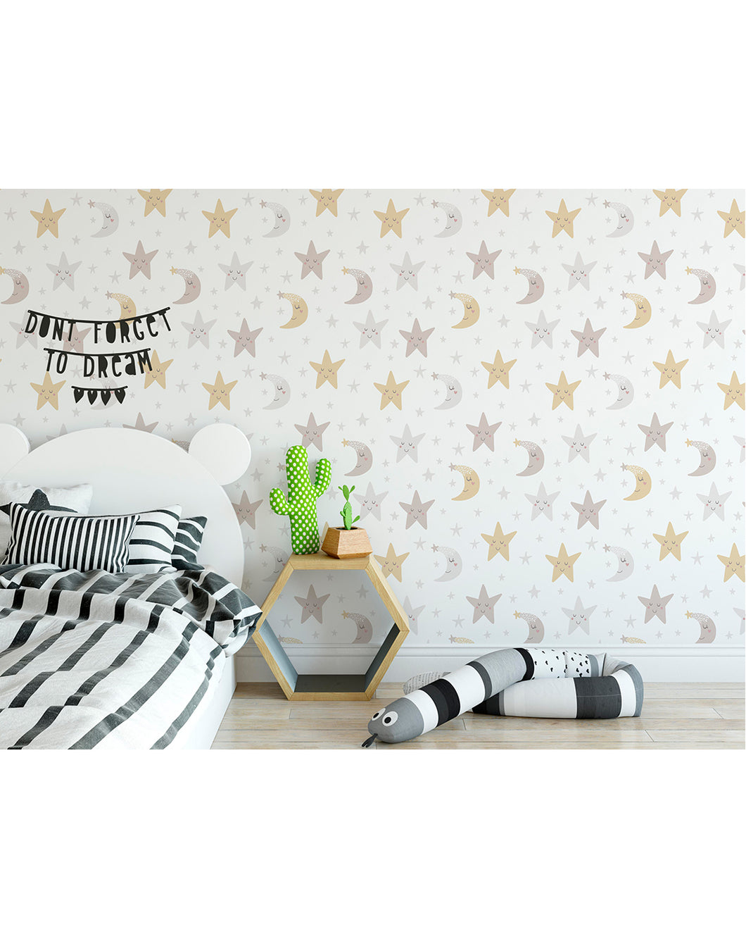 Self Adhesive Night Sky Removable Wallpaper For Kids Room
