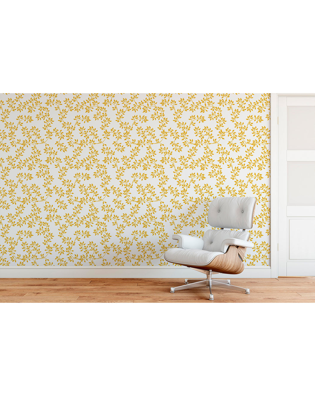 Temporary Self Adhesive Luxury Gold Color Leaves Removable