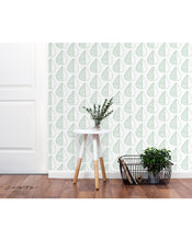 Minimalistic removable wallpaper Self adhesive temporary wall paper leaves pattern Nordic design wall covering simple lines wall mural CC063