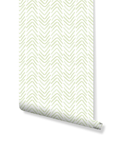 Self Adhesive Hand Drawn Chevron Lines Removable Wallpaper CC008