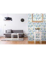 Self Adhesive Watercolor Hexagon Tile Removable Wallpaper CC009