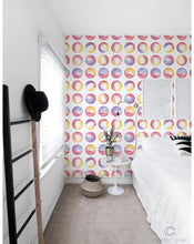 Self Adhesive Watercolor Circles Removable Wallpaper CC011