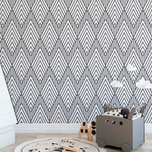 Self Adhesive Geometric Line Diamonds Removable Wallpaper CC019