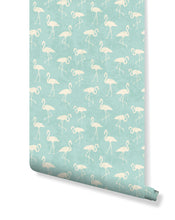 Self Adhesive Vintage Pink Flamingos Removable Wallpaper CC042