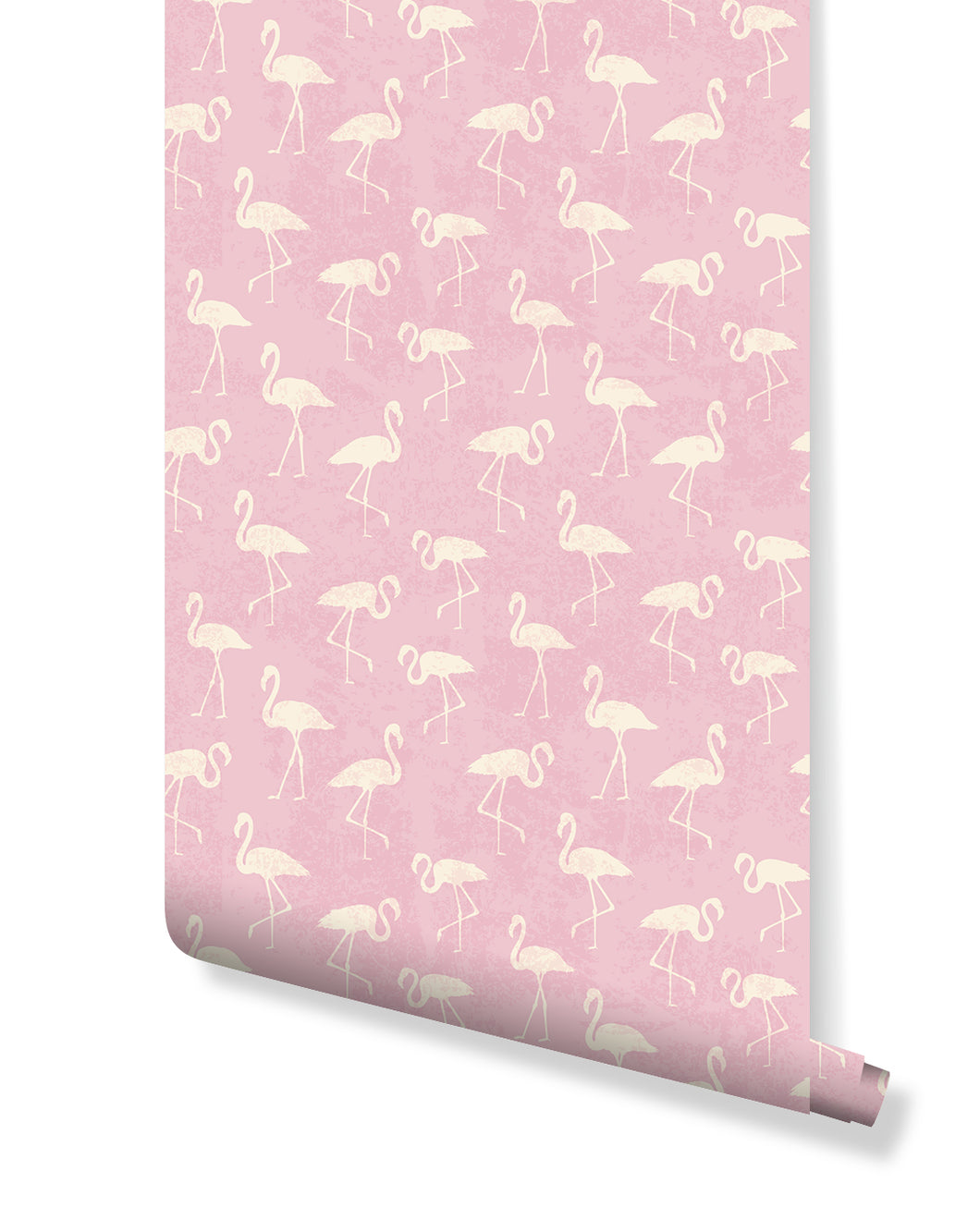 Tropical Self Adhesive Removable Wallpaper with white flamingos on Pink teal self adhesive vintage wall mural Custom Colors Available CC042