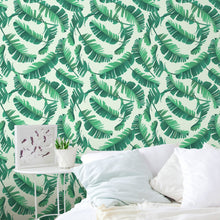 Self Adhesive Tropical Banana Palm Leaves Removable Wallpaper CC093