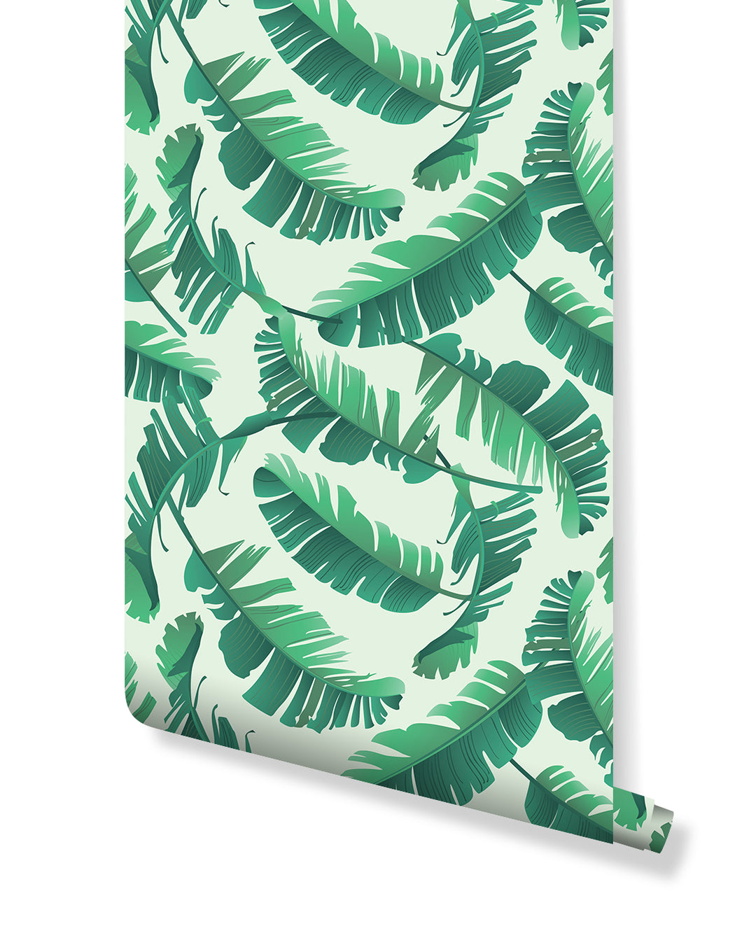 Self Adhesive Removable Wallpaper Tropical Banana Palm Leaves Wall Art Costacover #tropical #leaf #plant #aesthetic #ftestickers sticker by arminé. usd