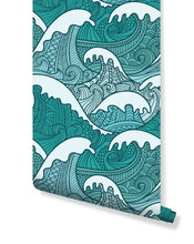Self Adhesive Mighty Ocean Wave Removable Wallpaper CC096